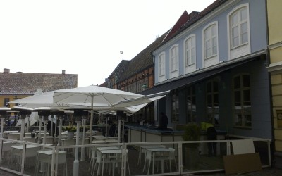 10 meter bred Stobag Jumbo markis till Izakaya Koi i Malmö