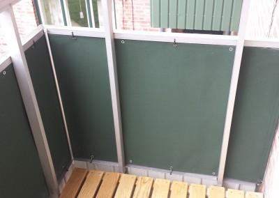 Balkongskydd - Speciallösning på balkong i Lund