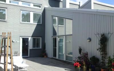 Utvändig solfilm till snedfönster