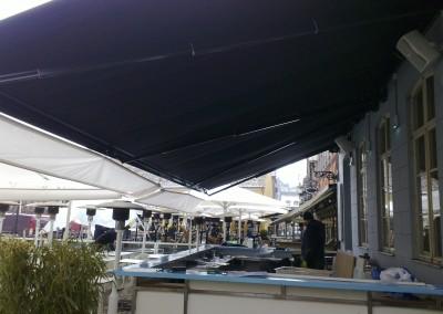 Stobag Jumbo - Stor markis som vi sammankopplade med våra fina parasoller.