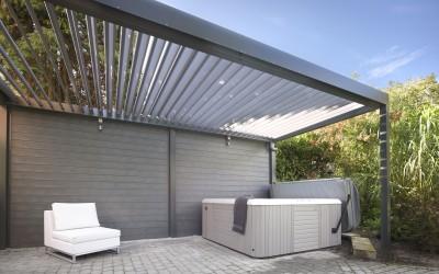Harol Umbris – Markis med rörliga aluminiumlameller
