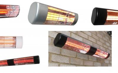 Heatlight finns i flera olika modeller och kan fjärrstyras med Somfy tillbehör.