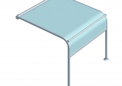 Warema P50 - En modell där väven kan gå hela vägen ner till marken.